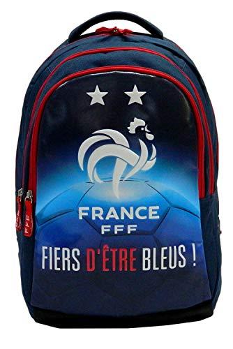 FFF Sac à Dos Scolaire Collection Officielle Equipe de France de Football
