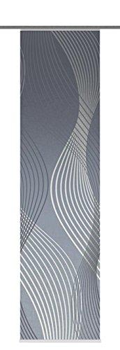Home Fashion 87747-706 Riverton - Panel japonés con impresión Digital (con riel y listón de fijación, 245 x 60 cm), Color Azul