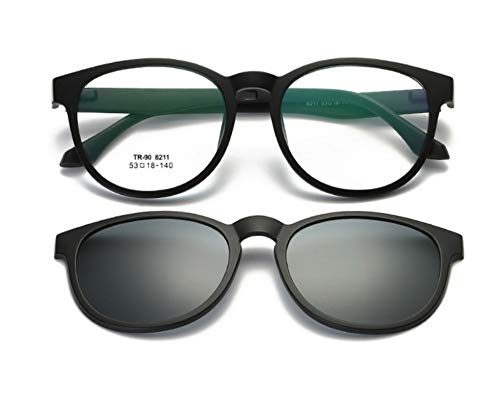 KOMNY Polarisierte magnetische Spiegel stellten weibliche Modelle Kurzsichtigkeits-Sonnenbrille Magnetadsorptions Clip-Sonnenbrille EIN, die Spiegel, B