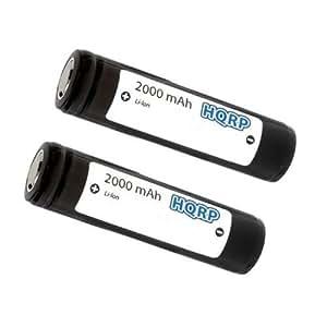 HQRP Lot de 2 piles pour Ultrafire Wf 502b Cree XM-L T6 Cree Lampe torche Led 3 modes