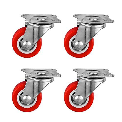 4Pcs 40mm Durchmesser Universal-Fit Bürostuhl Caster Räder Ersatz für Haushaltsgeräte Kaffeetisch Inlineskaten Stil