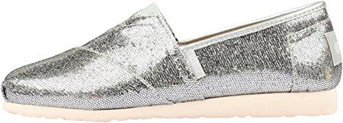 Paperplanes Fashion brillant - 1199–dérapant-Ons Baskets pour femme Argent - argent