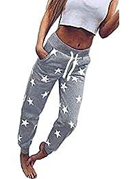 Pantalon Jogging Femme Fashion Étoile Imprimé Taille Élastique avec Mode  Chic Pantalon De Sport Cordon De d5b15b36f23