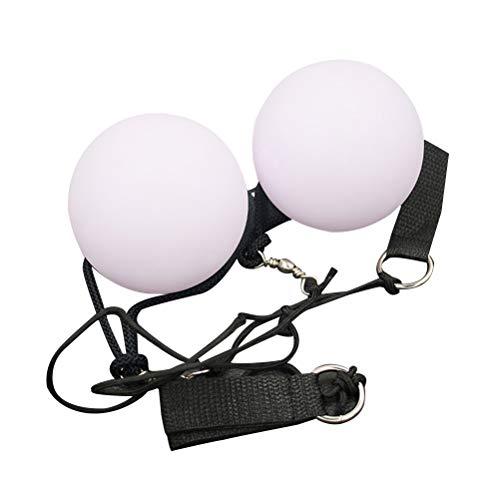 SUPVOX LED Poi Juggling Balls Spinning LED Spielzeug Farbe Che ändert Bauchnabelspitzen 2 Stück -