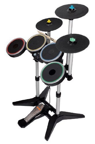 Schlagzeug MC Rock Band 3 wireless Pro-Drum and Pro-Cymbals Kit (Rockband Drums Wii)