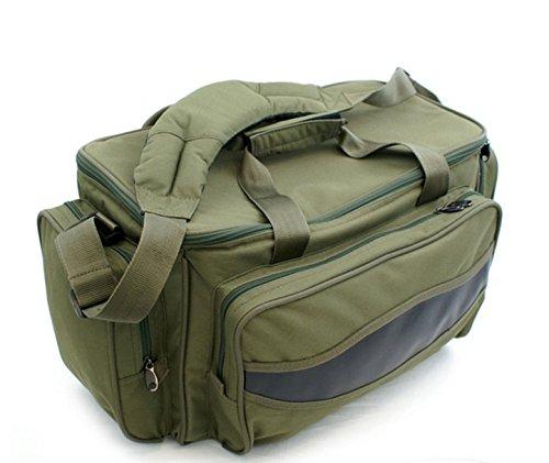ELKO-2000 Carryall Karpfentasche Angeltasche groß mit Isoliertem Hauptfach (Hauptfach Großes)