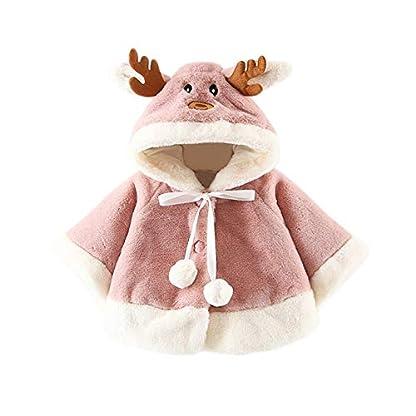 HCFKJ Ropa Bebe NiñA Invierno NiñO Manga Larga Camisetas Beb Conjuntos Moda Navidad Disfraz Ciervo Encapuchado Capa Capa Bata NiñOs NiñAsrajes