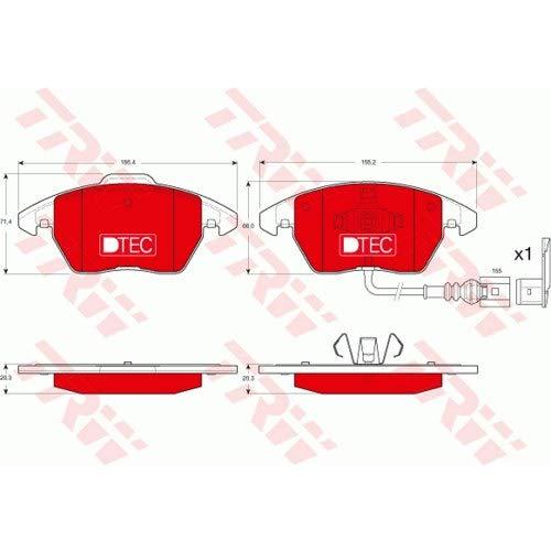 TRW Bremsklötze Bremsbeläge Bremsbelagsatz GDB1550DTE