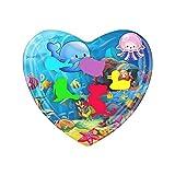 Lomelomme Coussin d'eau gonflable pour bébé en forme de coeur, Centre jeu d'activités amusantes tapis enfants et bébés