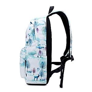 41KQQPxeXGL. SS300  - Joymoze Mochilas Ligeras y Duraderas para Niñas Adolescentes, Linda Bolsa Escolar Infantil Alce