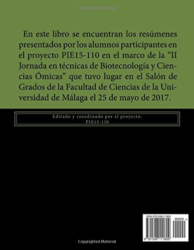 Libro de resúmenes de la II Jornada en técnicas de Biotecnología y Ciencias Ómicas