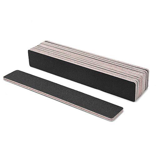 100pcs / pack Nagelfeile BlockDouble Side Holz Schwabbelaggregat 100 / 180Grit Schwarz Lime ein Ongle DIY Nagel-Make-up-Tools -