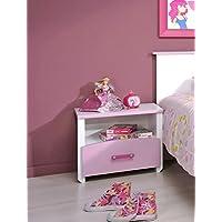 Nachttisch Beauty 44x44x28 cm weiß rosa lackiert Nachtkonsole Nako Kinderzimmer preisvergleich bei kinderzimmerdekopreise.eu