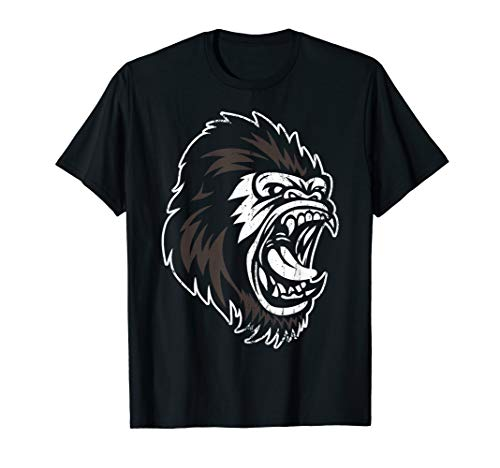 Angry Silverback Scary Gorilla Ape King Geschenk-Design T-Shirt