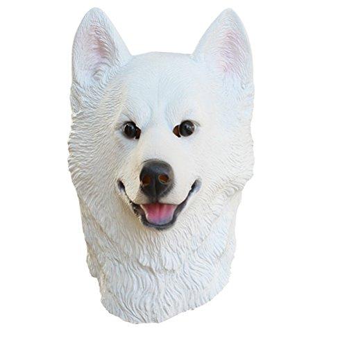 Streich Hunde Kostüm - BESTOYARD Halloween Maske Latex Hund Maske Karneval Momente Maske Streich Kostüm Cosplay Requisiten (Weiß)