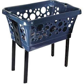 w schekorb mit beinen auf knopfdruck ausgeklappt und. Black Bedroom Furniture Sets. Home Design Ideas