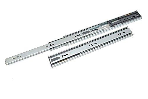 Lot de 1 Coulisse de tiroir pousser à ouvrir tiroir montage latéral H45 L-500