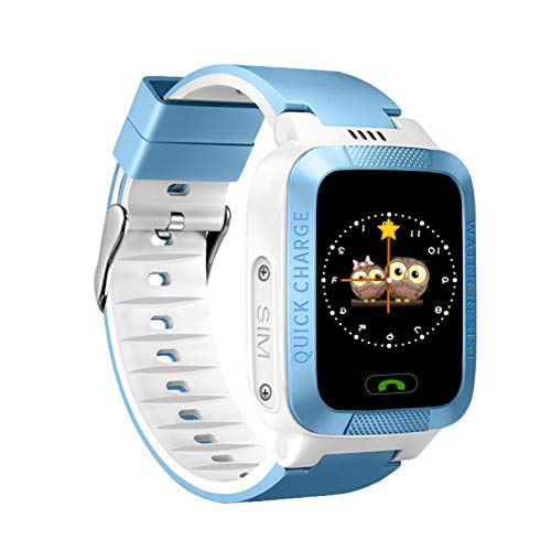 Kinder Smart Watch Lps Tracker Anti-Verlorene Monitor SOS-Anruf Kinder Smart Watch Kamera Kinder Smartwatch Blau
