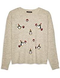 3453a462929c9 Girls Ladies Stone Penguin Gift Box Christmas Jumper Cardigans Small to XL