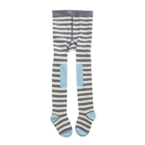 Baby Strumpfhosen Hirolan Kinderkleidung Strampler Neugeborene Kleinkind Kinder Strumpfhose Strumpf Fuchs Füßig Socken zum Baby Mädchen (70-80CM, Blau)