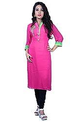 Maasha Women's Georgette Kurti (Maashakurti1014_Pink_Medium)