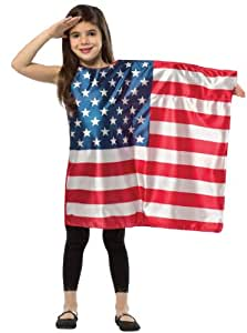 Flag Dress Costume Child: USA