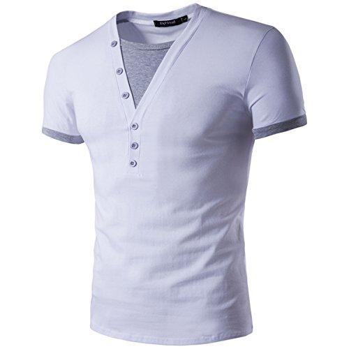 yl-t-shirt-collo-mao-uomo-argento-l