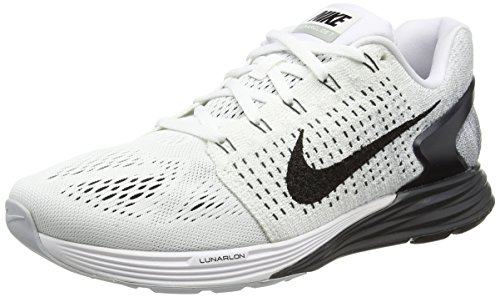 Nike Lunarglide 7, Chaussures de Running Entrainement Homme Blanc (white/black/anthracite/cool Grey)