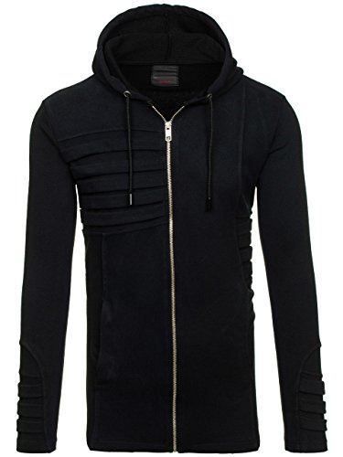 BOLF – Sweat-shirt – Manches longues – Fermeture éclair – BREEZY 9095 – Homme Noir
