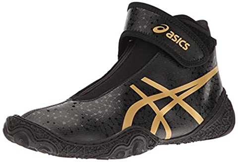 ASICS Men's Omniflex-Attack V2.0-M Wrestling Shoe, Black/Rich Gold, 10 M