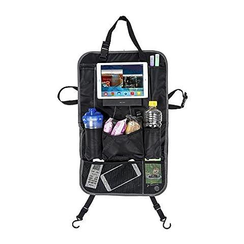 iPad support de voiture de voiture Organiseur pour dossier de siège multi-poches de rangement de voyage pour voiture, SUV, tronc, bébé Poussette