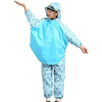 YuYzHanG Impermeables para niños Chaqueta Impermeable Azul bebé Capa Impermeable para bebé niño De Los Niños del Impermeable Impermeable Y Transpi (Size : S)