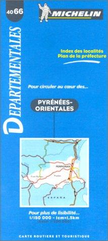 Carte routière : Pyrénées-Orientales, 4066, 1/150000 par Carte Michelin