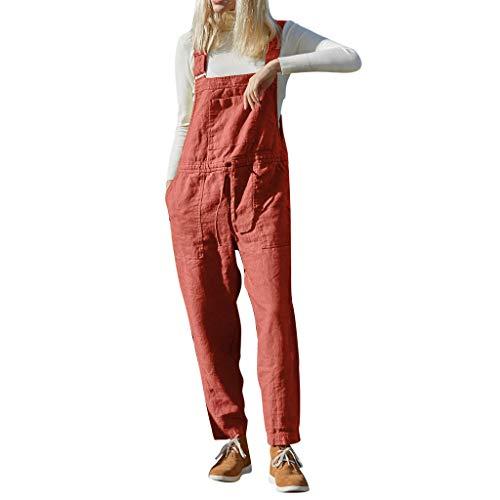 Wawer, modisch, für Damen, lässig, ärmellos, solide Bandage, Jumpsuit, Lady Party, Playsuit, bequem für den Alltag, einfach, Freizeit, gerade Hose, große Größe XXXL Orange Super Hip Flare Jeans