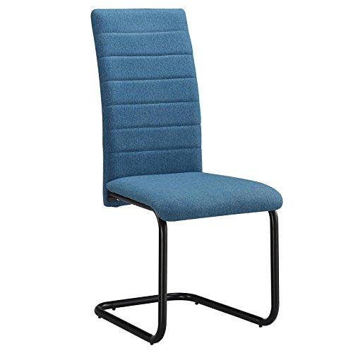 CARO-Möbel Esszimmerstuhl Panama 4er Set Küchenstuhl Polsterstuhl Schwingstuhl Freischwinger in...