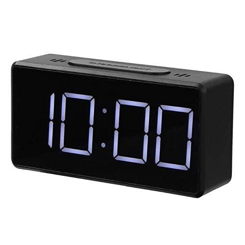 NR Reloj Despertador Digital LED Con Puerto USB Reloj Despertador De Mesa Reloj Electrónico Reloj Despertador De Escritorio Temporizador USB Calendario ° C- ℉ Termómetro