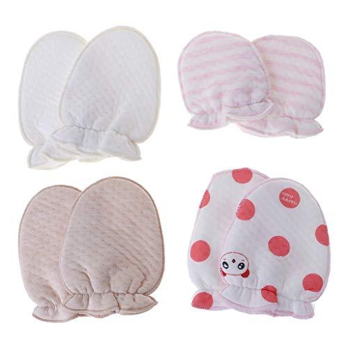 -Kratz-Fäustlinge Baby Handschuhe Anti-Kratz-Schutz, weiche Cartoon-Neugeborene Pflege-Geschenk ()
