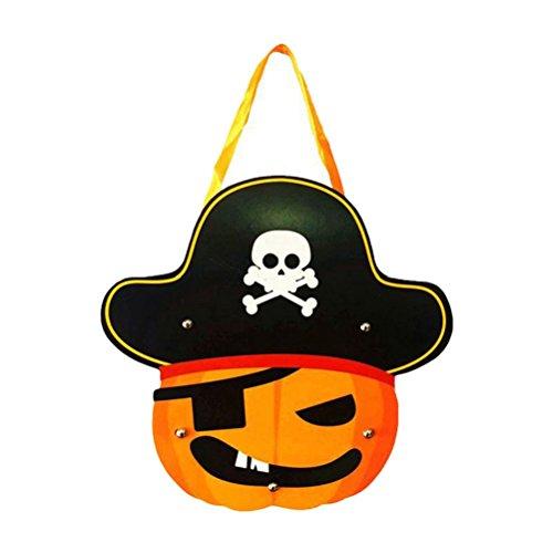 liche Kinder Handarbeit DIY Cartoon Ghost Castle Kürbis Tasche Handtasche für Geschenk Candy (Tasche Von Knochen Halloween Requisiten)