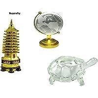 buycrafty Vastu Feng Shui-Set von Kristall Schildkröte + Bildung Tower + Crystal Globe für bessere Bildung, Konzentration... preisvergleich bei billige-tabletten.eu