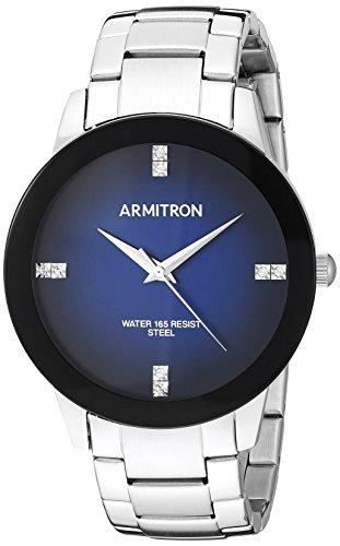 Armitron Men's Quartz Stainless Steel Dress Watch, Color:Silver-Toned (Model: 20/5302NVSV)