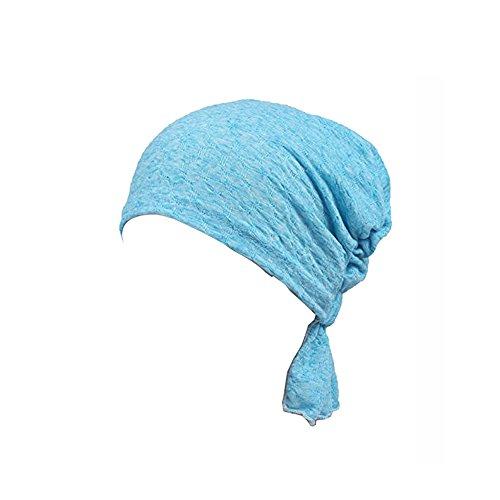 Ever Fairy 3Farben Pack Pre Gebunden Kopf Schal hat Ethnic Print Turban mit Kopfbedeckungen Frauen Stretch Blume muslimische Kopftuch Gr. One size, 1 PIECE L