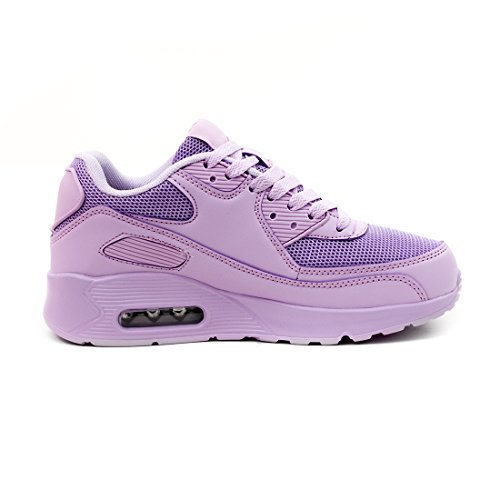 Trendy Unisex Donna Bambini Scarpe Da Corsa Stringate Sneaker Sneaker Sportive Sportive Viola