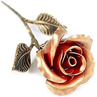 Rosa Eterna Hierro Forjado - Regalo exclusivo para ella para el Aniversario de Bodas, Sant Jordi, San Valentin, el día de la Madre, el Cumpleaños, la Navidad
