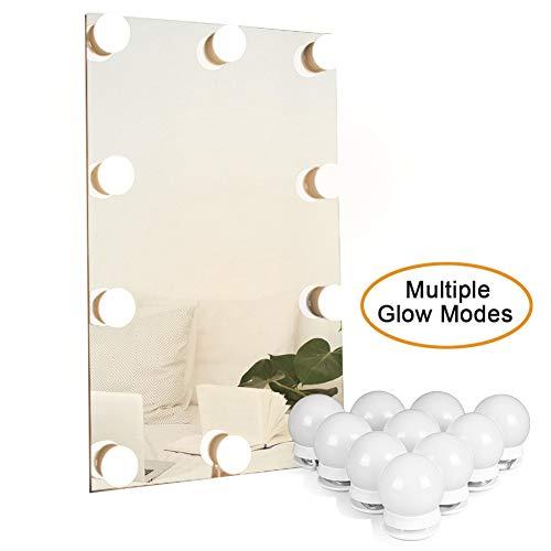 Waneway LED Beleuchtungs-Set für Makeup-spiegel mit Mehreren Farbtönen für Warmes,Spiegel-Umrandung mit Lichtern im Hollywood-Stil Spiegelleuchte,Spiegel Nicht Inbegriffen