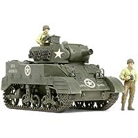 Tamiya 300035312 WWI US M8 Howitzer Motor Carriage - Tanque de la 2 Guerra Mundial en miinatura con 3 figuras (escala 1:35)