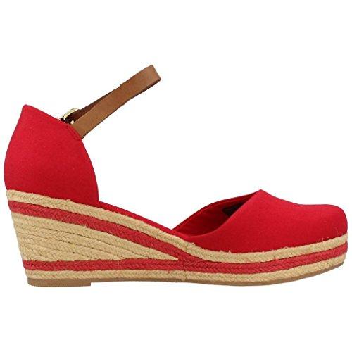 Tommy Hilfiger E1285LBA 18D Tango Red, Damen sandalen, rot 611 Tango Red