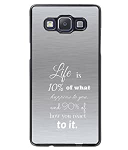 Fuson 2D Printed Quotes Designer back case cover for SAMSUNG GALAXY A5 A500F - D4545