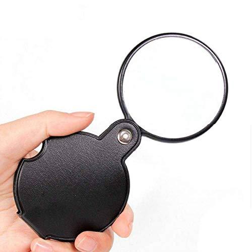 MAXGOODS 5 Stk. klappbare Taschenlupe mit 10x Vergrößerung Linse mit 50 mm Durchmesser für Lesen,...