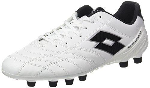 Lotto Stadio 100 Fg, Chaussures de Futsal Homme Blanc (blanc / noir)