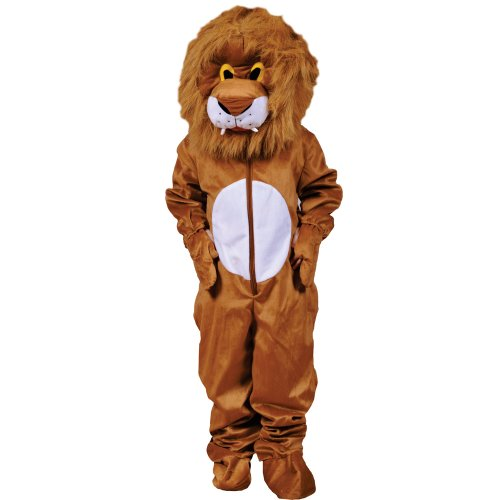 Kostüm Maskottchen Plüsch - Dress Up America Unheimlich Plüsch Löwe Haarige Kopf Kostüm